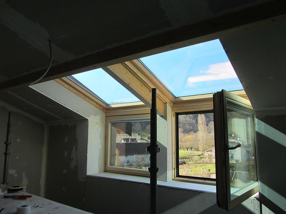 Exemples de fenêtres de toit - Saône Seille Charpente