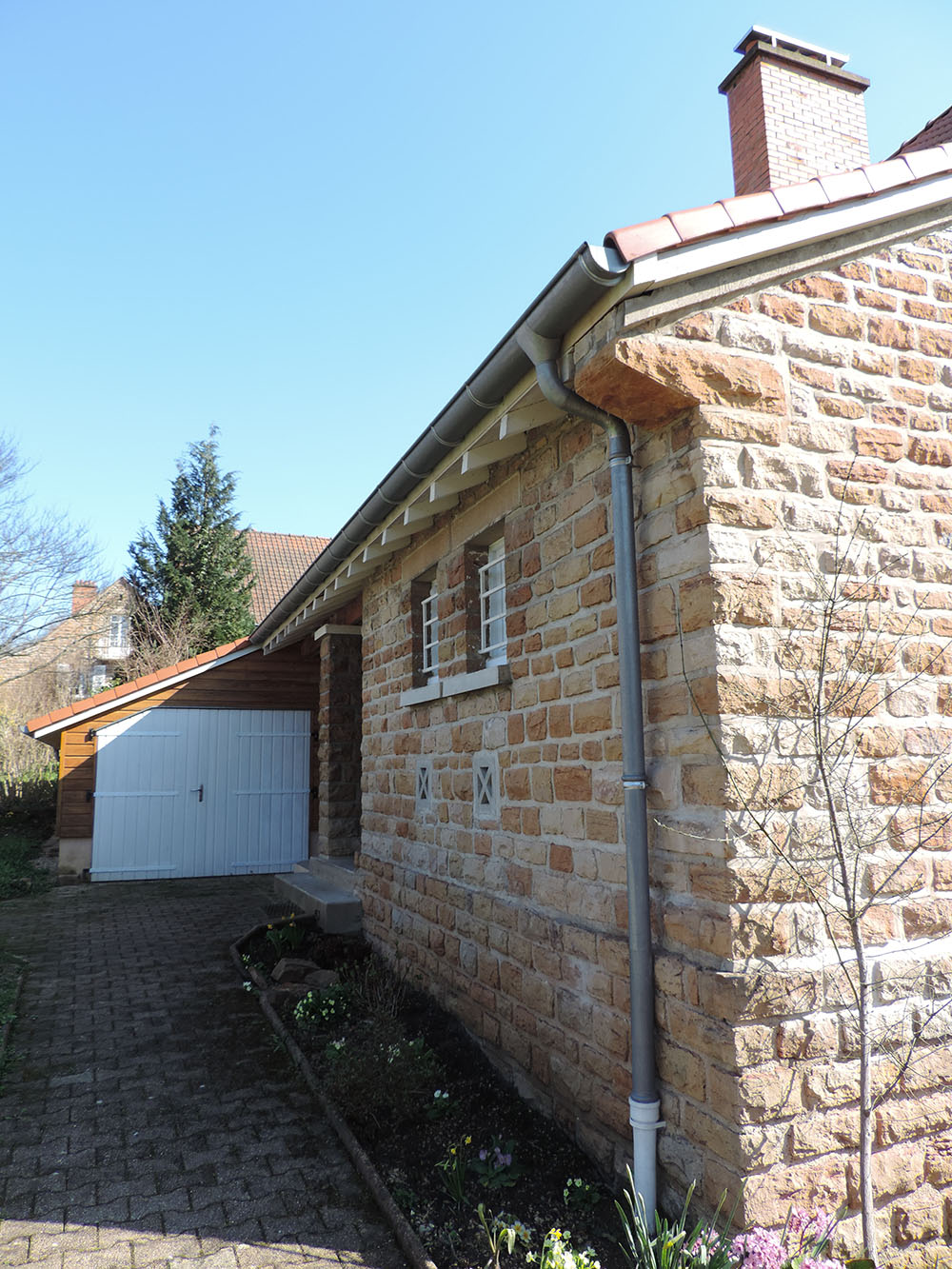 Extension d 39 une maison macon sa ne seille charpente - La maison de bois macon ...