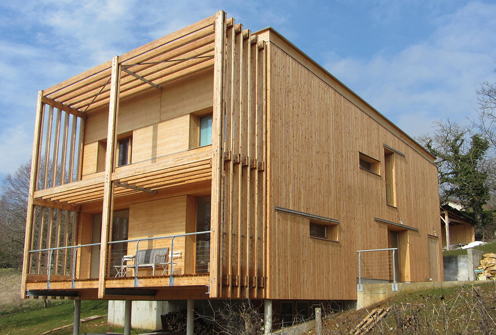 Construction d 39 une maison individuelle sa ne seille charpente - Construction d une maison ...